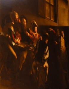 La vocación de San Mateo, de Caravaggio.